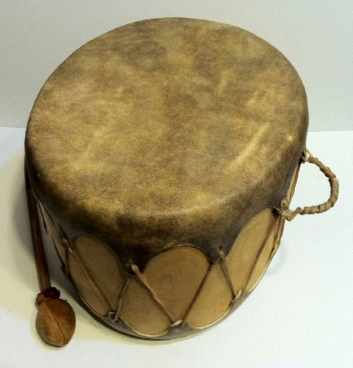 Native American drum-used